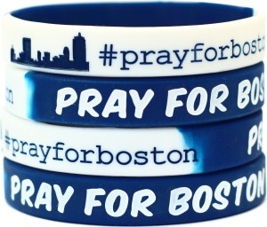 Pray For Boston Fundraiser Wristband Bracelets