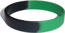 green and black wristband