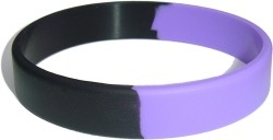 purple and black wristband