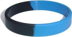 middle blue and black wristband