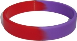 red,purple wristband