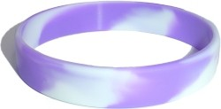 swirl purple and white wristband