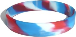 swirl red and white and blue wristband