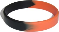 orange and black wristband