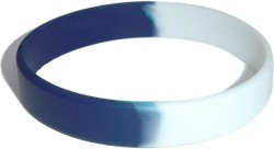 dark blue and yellow wristband