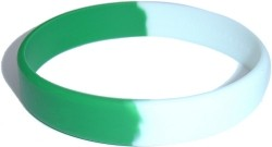 green,white wristband