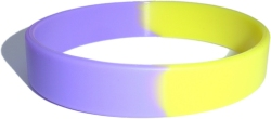 purple and yellow wristband