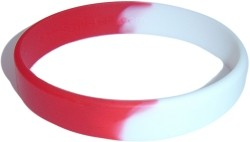 red,white wristband