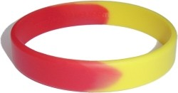 red and yellow wristband