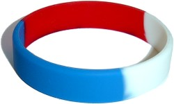 red white and blue wristband
