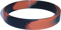 swirl orange and black wristband