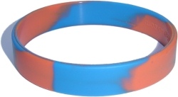 swirl orange and middle blue wristband