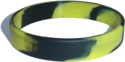 swirl yellow and black wristband