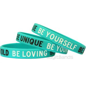 be bold be yourself wristbands