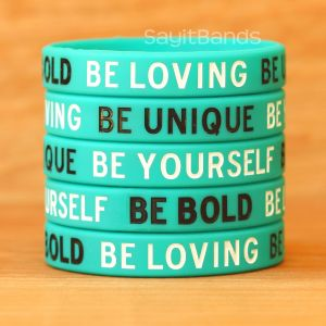 be loving be unique wristbands