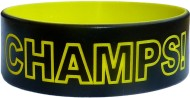 black with yellow text custom silicone bands 1 inch size