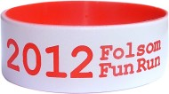 white with red text one inch colored text wristbands