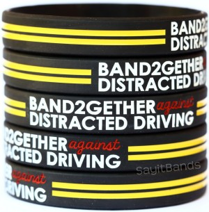Anti against texting distracted driving wristbands