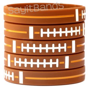 Football Silicone Wristbands