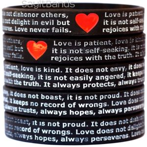 Love is Patient Love is Kind Wristbands I Cor 13