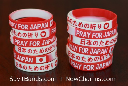 We Pray for Japan Wristbands - Both Sizes