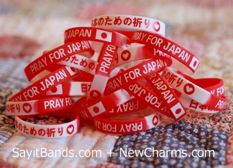 Pray for Japan Silicone Wristbands