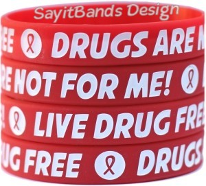 Red Ribbon Week Wristbands - Say No to Drugs