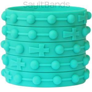 Rosary Prayer Bracelets - Silicone Wristbands for adults and children