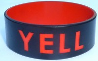 "1"" wristband with colored text"