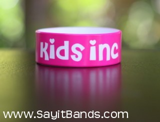 hot pink one inch silicone livestrong bands