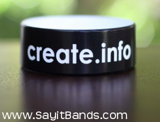 sample company one inch wristband